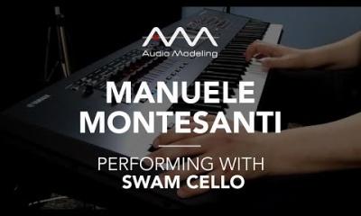 Manuele Montesanti performing with SWAM Cello