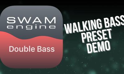 SWAM Double Bass for iPad - Walking Bass Preset demo