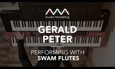 Gerald Peter performing with SWAM Bass Flute