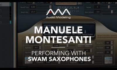Manuele Montesanti performing with SWAM Alto Sax