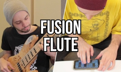 Flute Fusion Jam on an iPhone