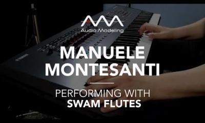 Manuele Montesanti performing with SWAM Flute