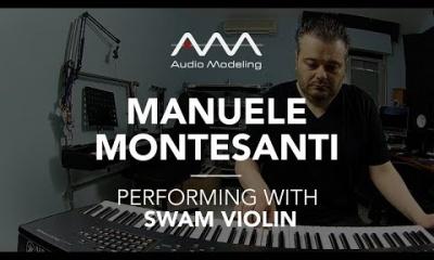 Manuele Montesanti performing with SWAM Violin