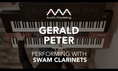 Gerald Peter performing with SWAM Bass Clarinet